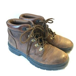 Timberland brown leather hiking boots/ 8